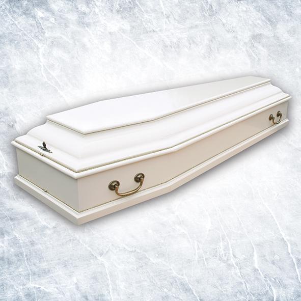 Гроб Б6 белый