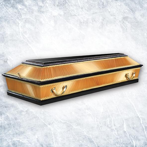Гроб комбинированный 4 грани Золотой