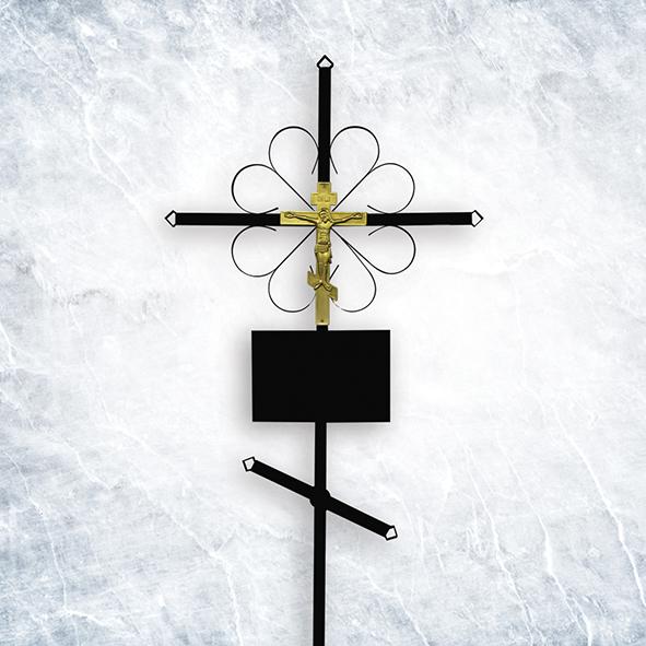 Крест метал 01