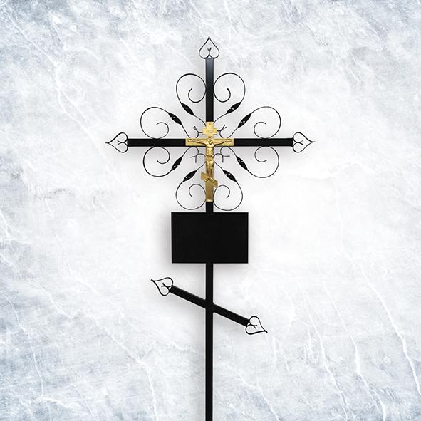 Крест метал 02