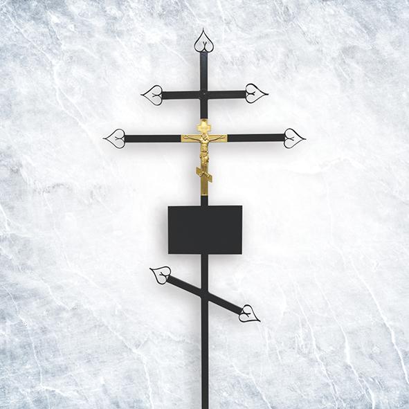 Крест метал 03