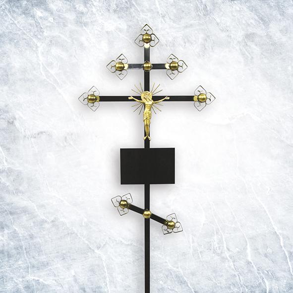 Крест метал 04