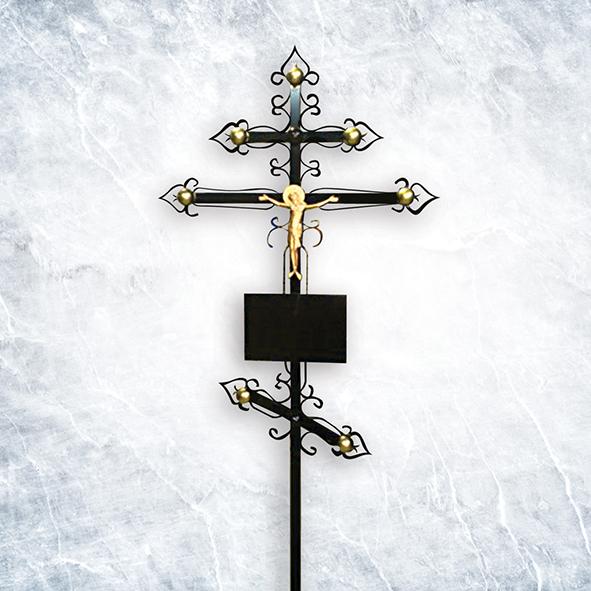 Крест метал 05