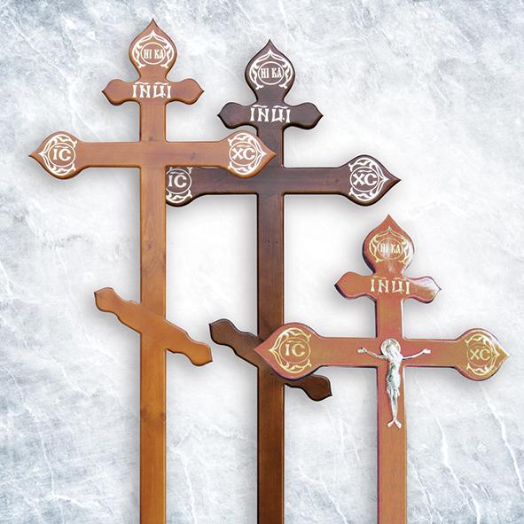 Крест деревянный сосна, православный