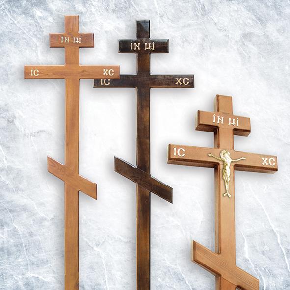 Крест деревянный 01, сосна